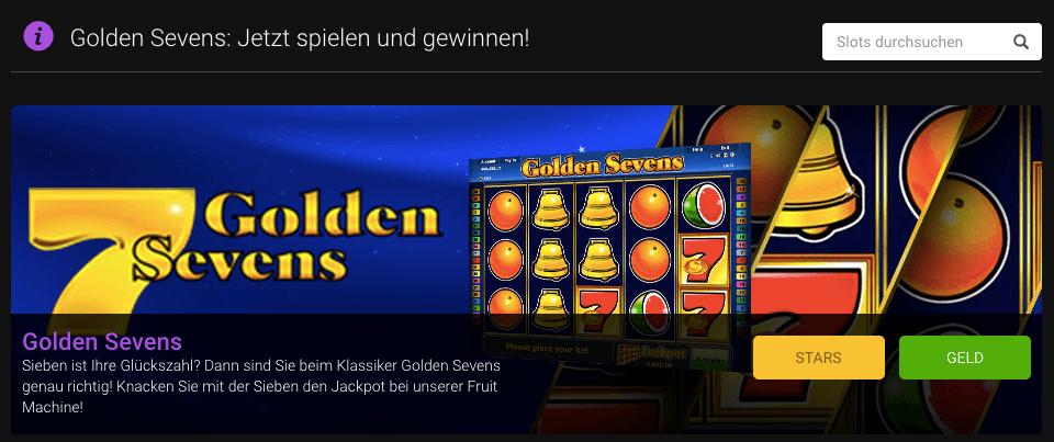 Golden Sevens online spielen z.B. bei Stargames