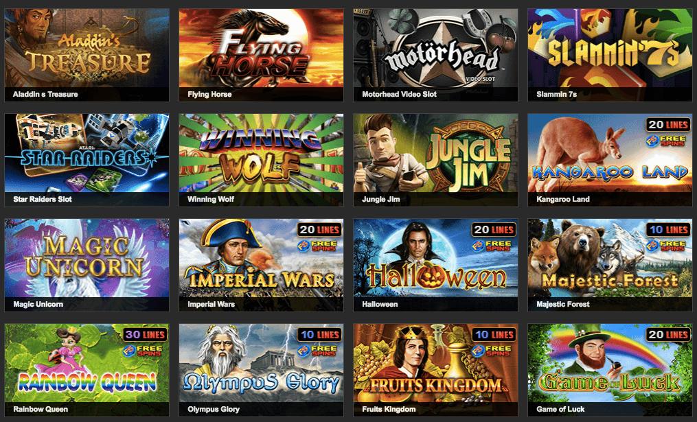 Spielautomaten Übersicht des NetBet Casino