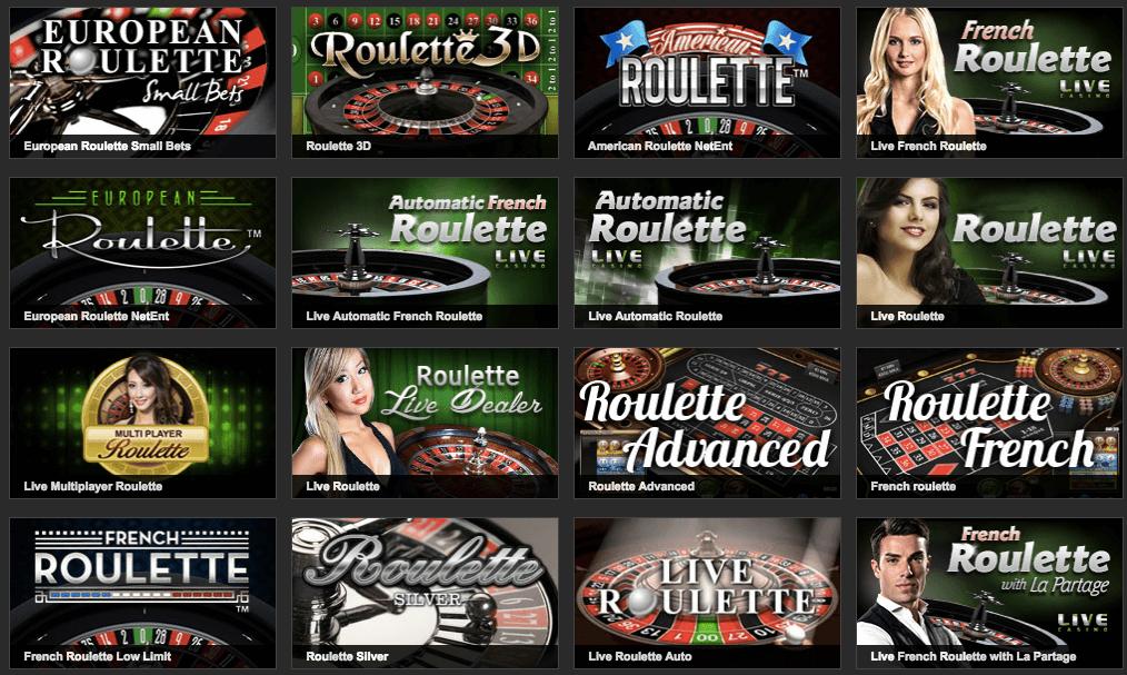 Casino Spiele Übersicht beim Online Casino