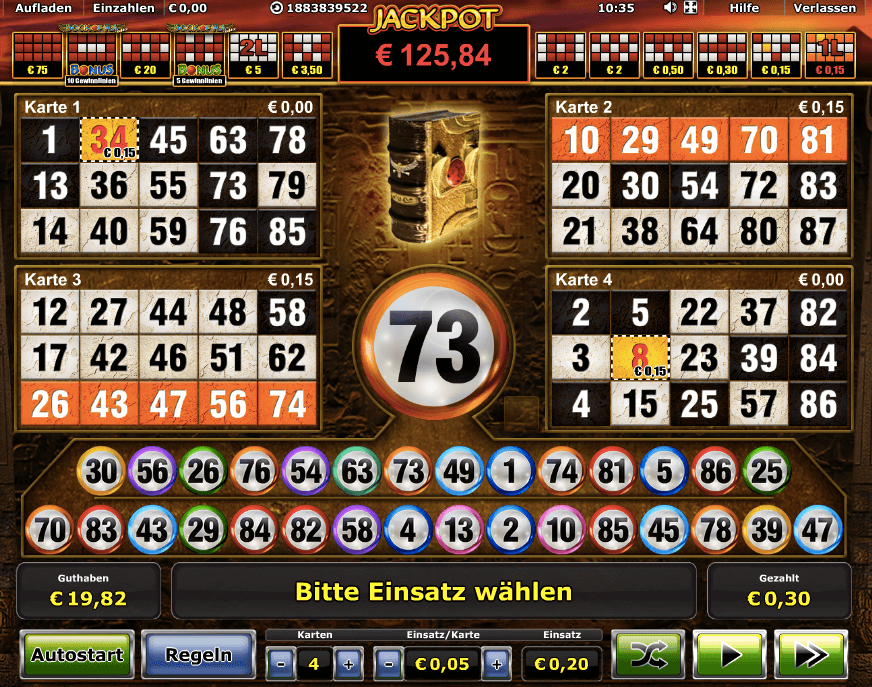 online casino book of ra bingo kugeln