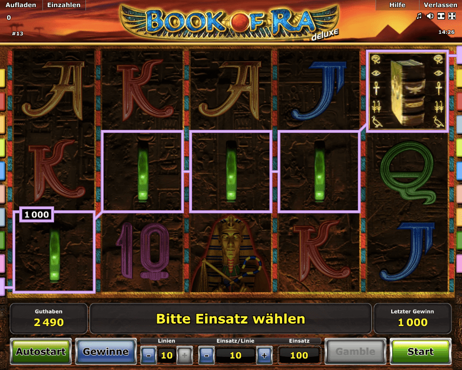 book of ra online casino sizzling game