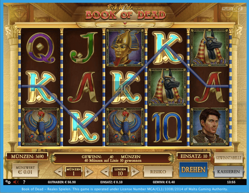 online casino bonus book of dead